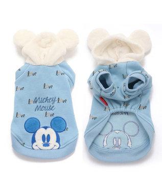 PET PARADISE ディズニーミッキーマウス モコモコ パーカー 〔超小型・小型犬〕 水色