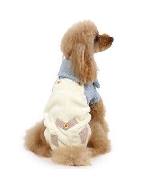 PET PARADISE ペットパラダイス ボア もこもこ パンツつなぎ〔超小型・小型犬〕 青