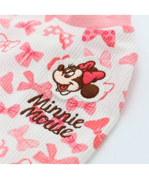 PET PARADISE ミニーマウス リボン ペティヒート ワンピース〔超小型・小型犬〕 ピンク(淡)