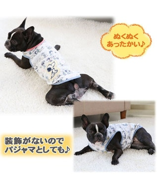 PET PARADISE スヌーピー 50S ペティヒート タンクトップ 〔中・大型犬〕 白~オフホワイト