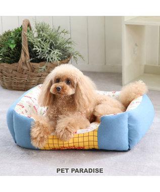 PET PARADISE ディズニートイ・ストーリー 総柄四角カドラー(57×45cm) 水色