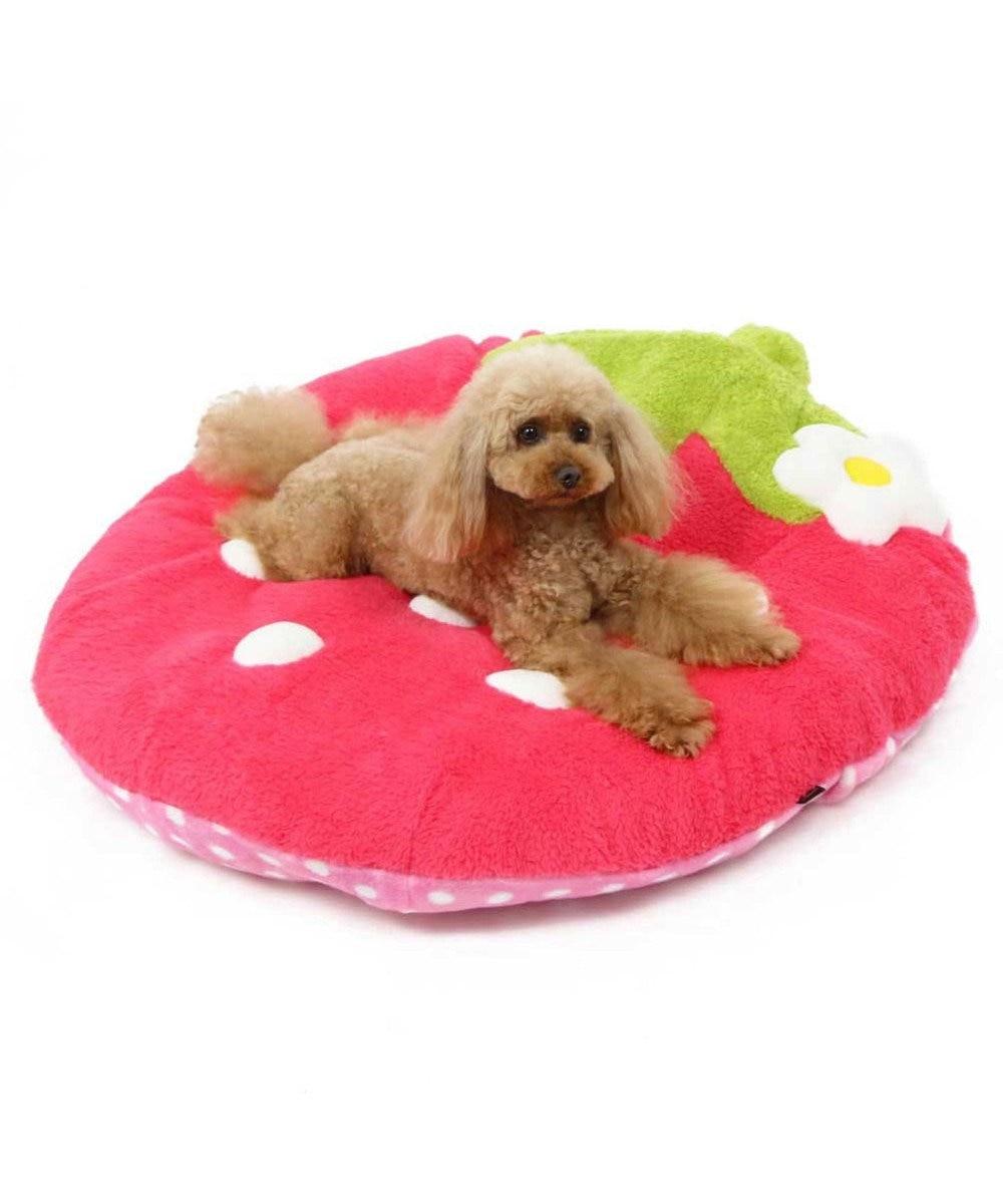 PET PARADISE 【ネット限定】ペットパラダイス野いちごふわでかクッション 濃桃 ピンク(濃)