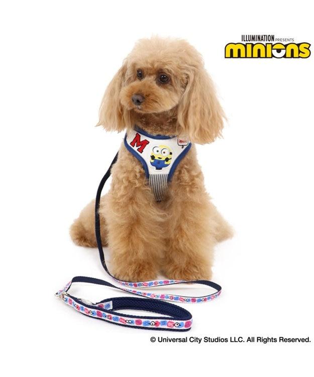 PET PARADISE ミニオン ダンガリー ハーネスリード ペット3S〔超・小型犬〕 青