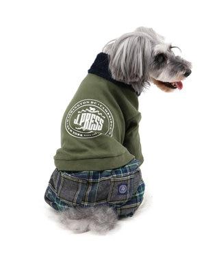 PET PARADISE J.PRESS マフラー コーデ パンツつなぎ〔超小型・小型犬〕 カーキ