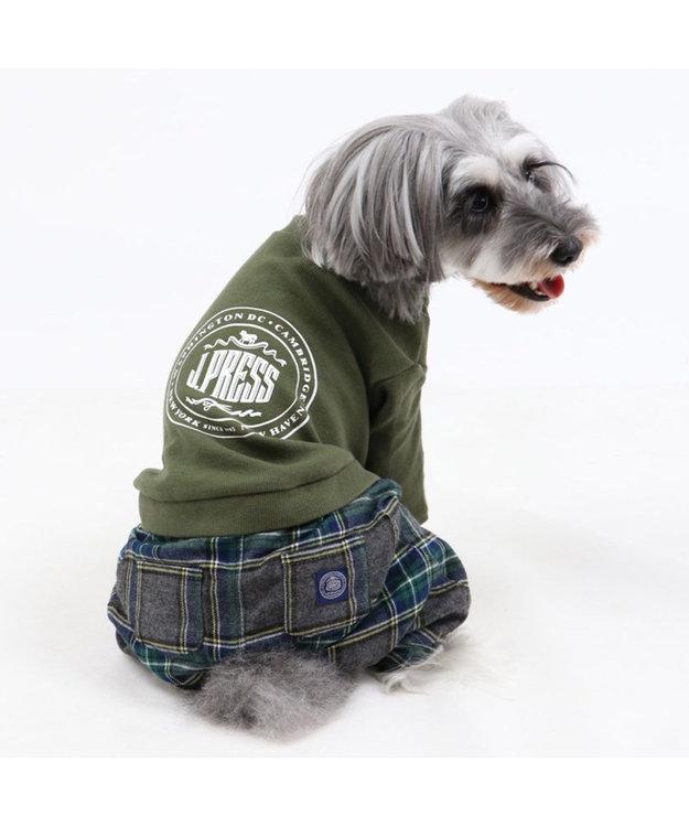 PET PARADISE J.PRESS マフラー コーデ パンツつなぎ〔超小型・小型犬〕