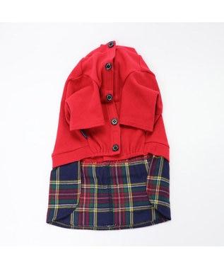 PET PARADISE J.PRESS マフラー コーデ スカートつなぎ 〔超・小型犬〕 赤