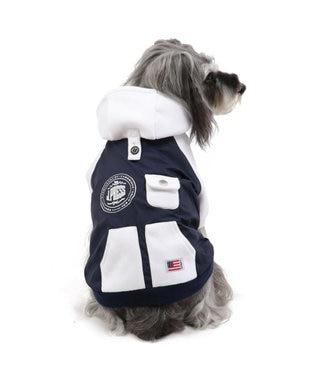 PET PARADISE J.PRESS ウィンド パーカー 〔超小型・小型犬〕 白~オフホワイト