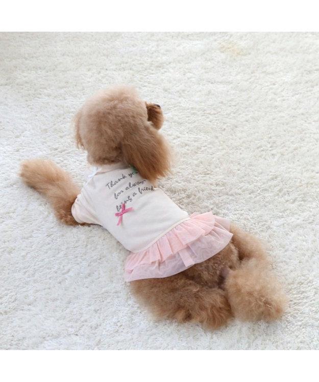 PET PARADISE ペットパラダイス リボン ペティヒート ワンピース 桃〔小型犬〕