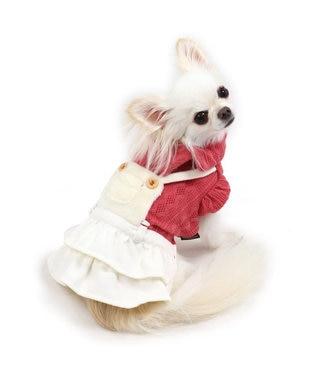 PET PARADISE ペットパラダイス ボア もこもこ スカートつなぎ 〔超小型・小型犬〕 赤