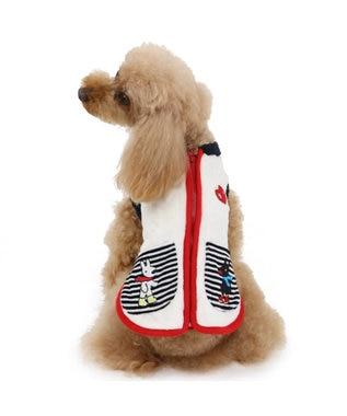 PET PARADISE リサとガスパール ニット柄 ベスト 〔超小型・小型犬〕 白~オフホワイト