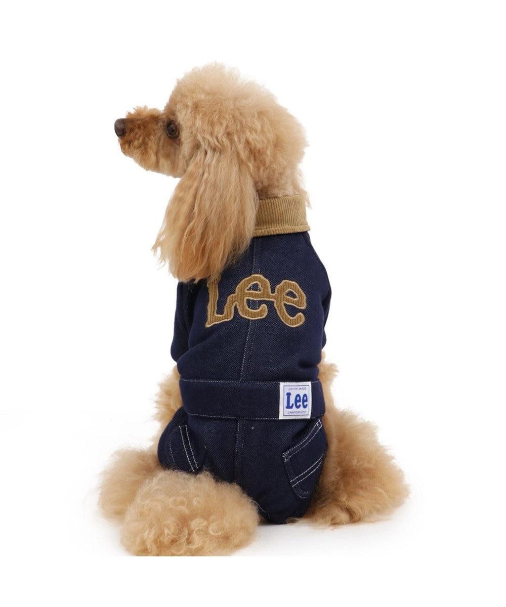 PET PARADISE Lee ニット デニム ロンパース 〔超小型・小型犬〕 紺(ネイビー・インディゴ)