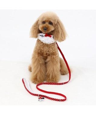 PET PARADISE ディズニー ミニーマウス 襟付ドット首輪 ペットSS〔小型犬〕 赤