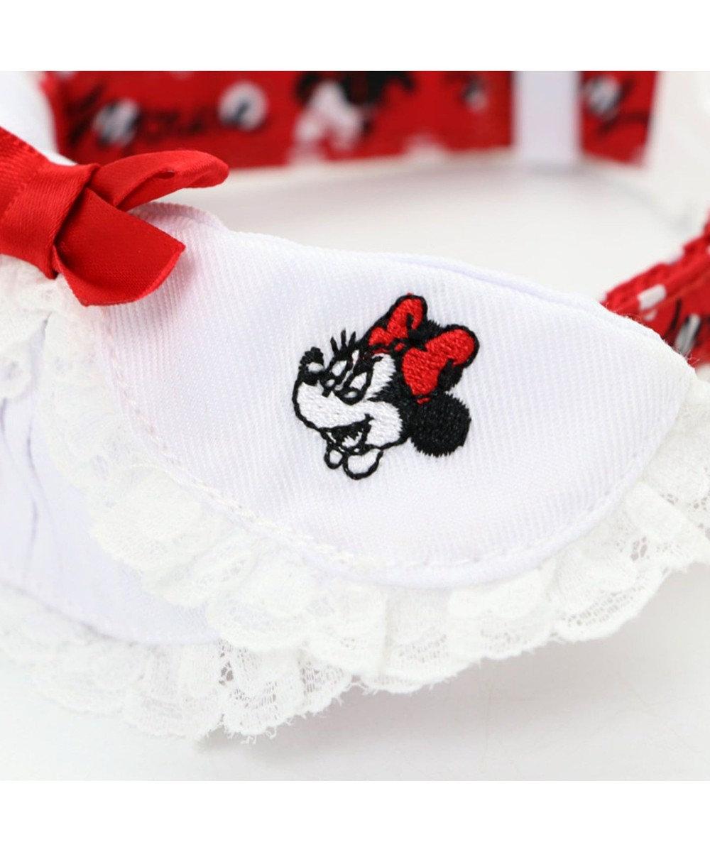 PET PARADISE ディズニー ミニーマウス 襟付 ドット首輪 ペットS〔小型犬〕 赤