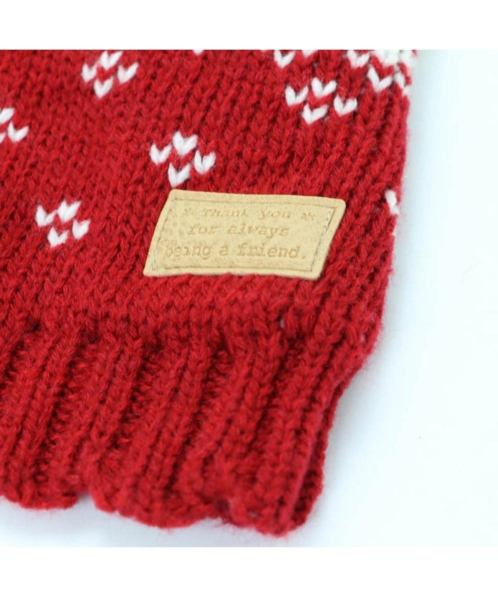 PET PARADISE ペットパラダイス 雪柄編み ニット 赤 〔超小型・小型犬〕 赤