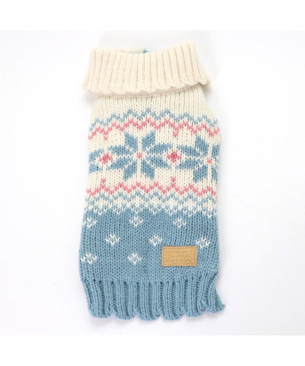 PET PARADISE ペットパラダイス 雪柄編み ニット 青 〔超小型・小型犬〕 青