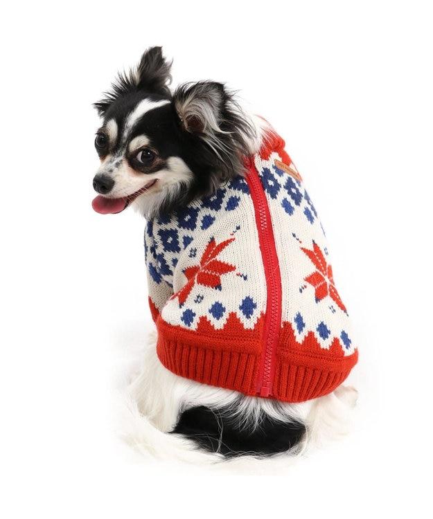 PET PARADISE ペットパラダイス カウチンニット 赤 〔超小型・小型犬〕