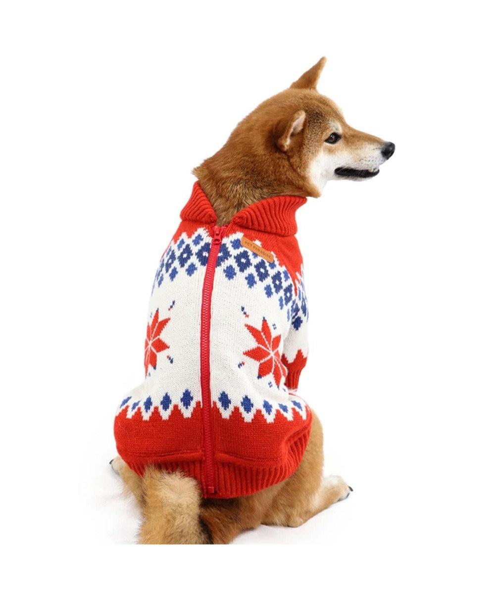 PET PARADISE ペットパラダイス カウチンニット 赤  〔中・大型犬〕 赤
