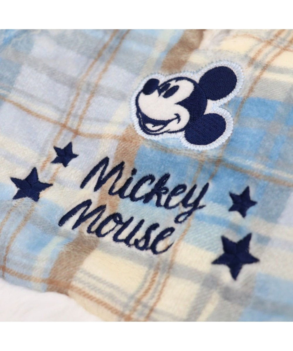 PET PARADISE ディズニーミッキーマウス チェック柄ポンチョ 〔超小型・小型犬〕 水色