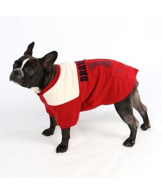 PET PARADISE ペットパラダイス 切替 ペティヒートTシャツ 赤 〔中・大型犬〕 赤