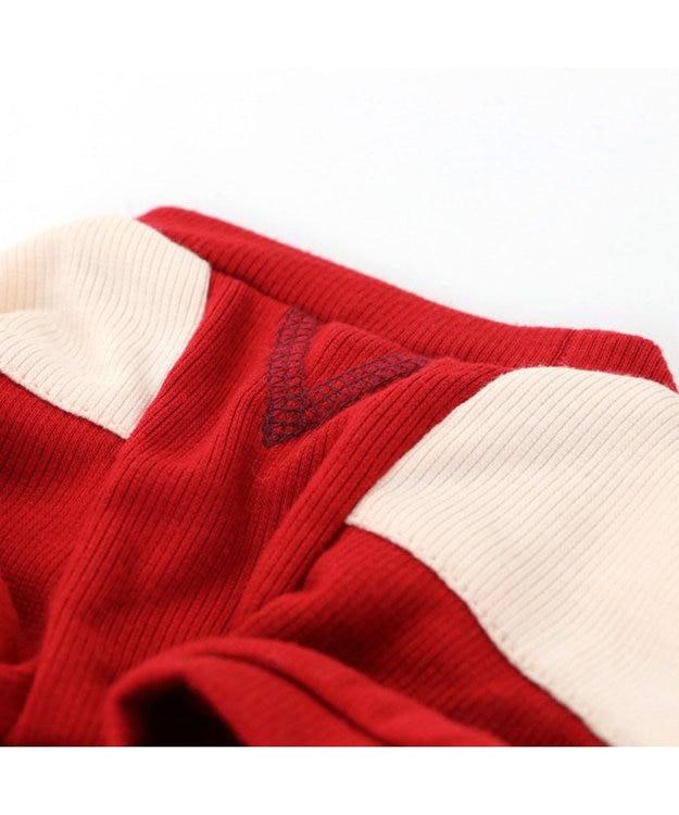 PET PARADISE ペットパラダイス 切替 ペティヒートTシャツ 赤 〔中・大型犬〕