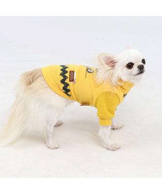 PET PARADISE スヌーピー ハイネック  ペティヒート Tシャツ 〔超・小型犬〕 黄