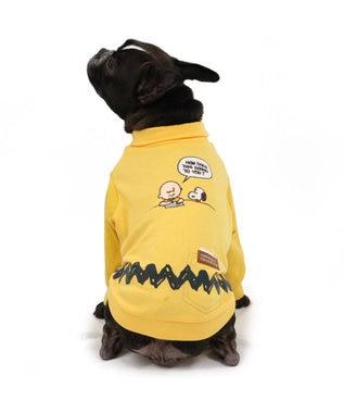 PET PARADISE スヌーピー ハイネック  ペティヒート Tシャツ 〔中型犬〕 黄
