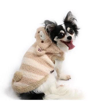 PET PARADISE ペットパラダイス もこふわ くまパーカー 〔超小型・小型犬〕 ベージュ