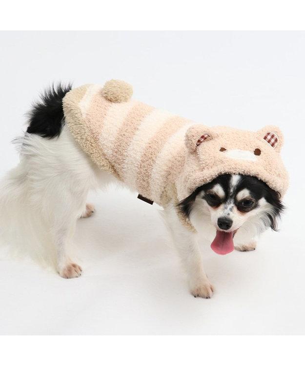 PET PARADISE ペットパラダイス もこふわ くまパーカー 〔超小型・小型犬〕