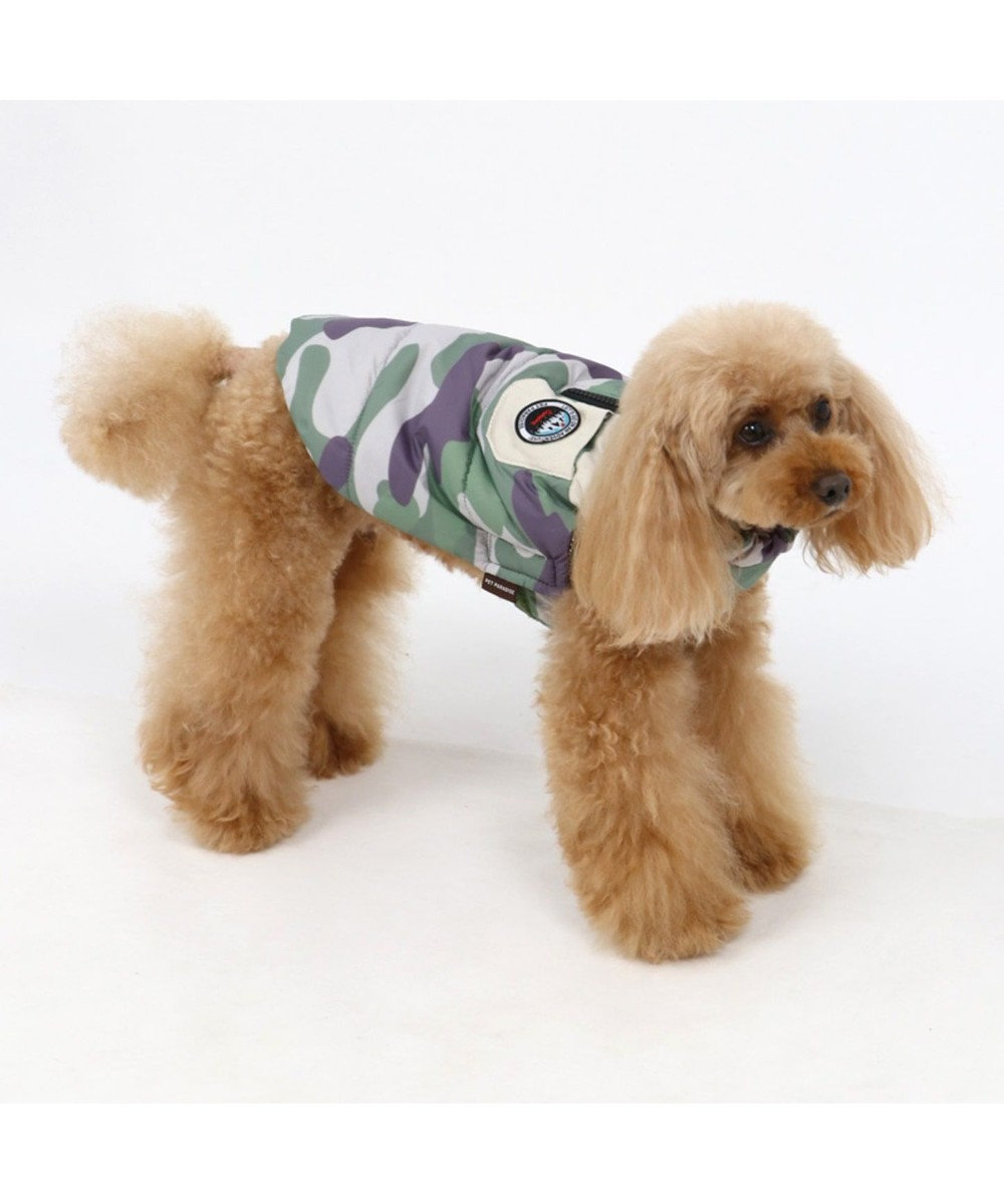 PET PARADISE ペットパラダイス エアベスト 迷彩〔超小型・小型犬〕 カーキ