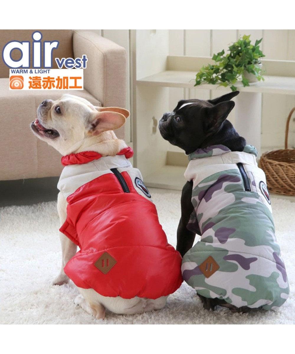 PET PARADISE ペットパラダイス エアベスト 迷彩〔中・大型犬〕 カーキ