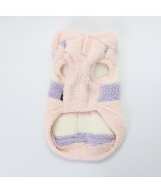 PET PARADISE ペットパラダイス もこふわ パーカー 桃 〔超小型・小型犬〕 ピンク(淡)