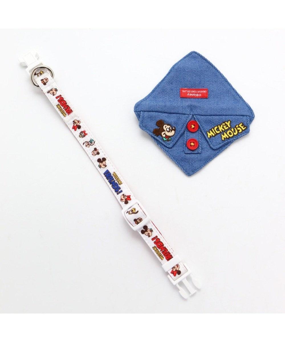 PET PARADISE ディズニー ミッキーマウス フレンズ首輪 ペット3S〔小型犬〕 白~オフホワイト