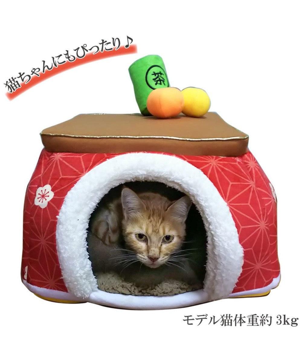 PET PARADISE ペットパラダイス こたつハウス 梅 (40cm)ペット ベッド 赤