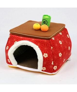 PET PARADISE ペットパラダイス こたつハウス 梅 (50cm)ペット ベッド 赤