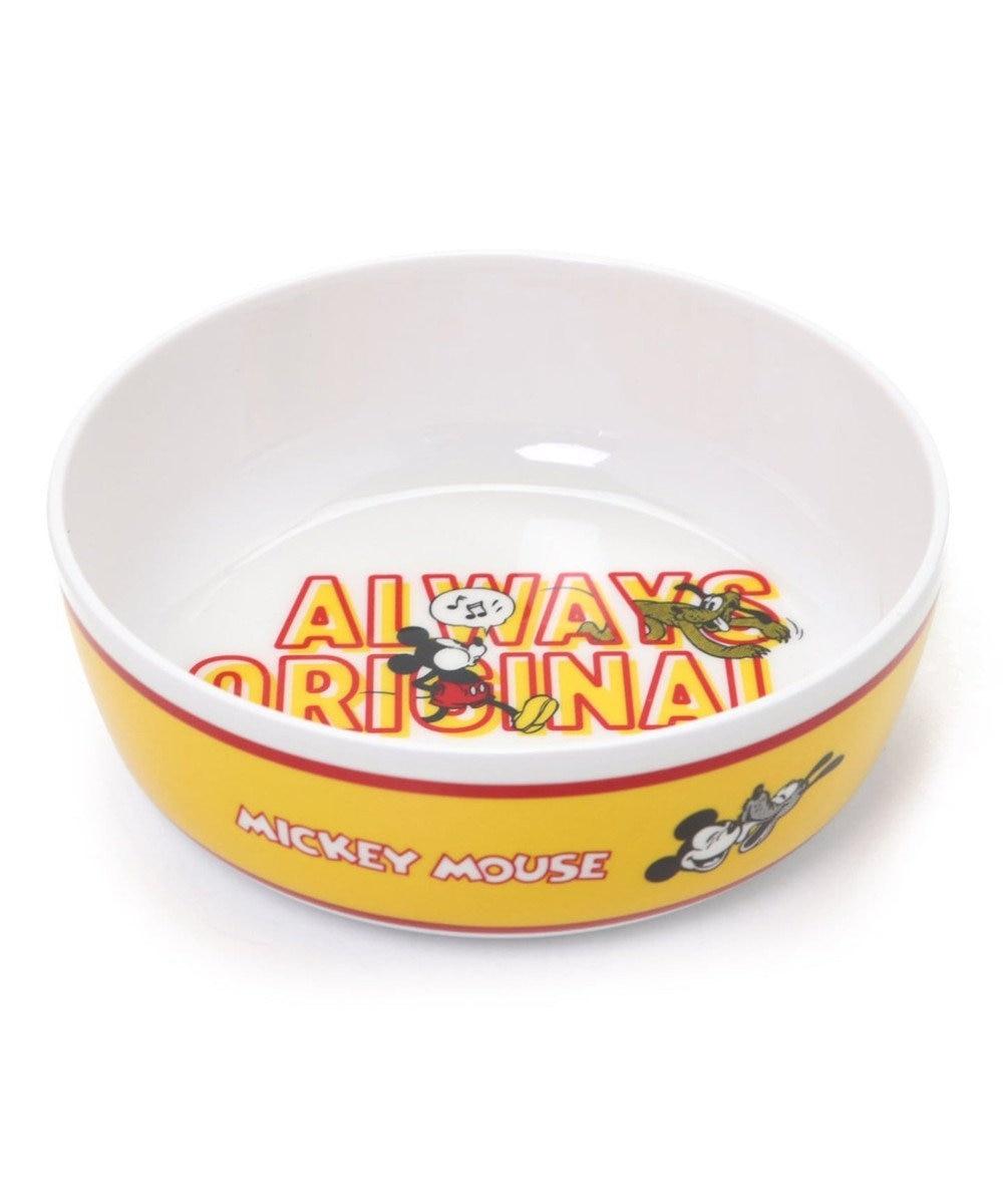 PET PARADISE ディズニー ミッキーマウス  フードボウル 犬 フードスタンドメラミン えさ皿 犬 食器 黄