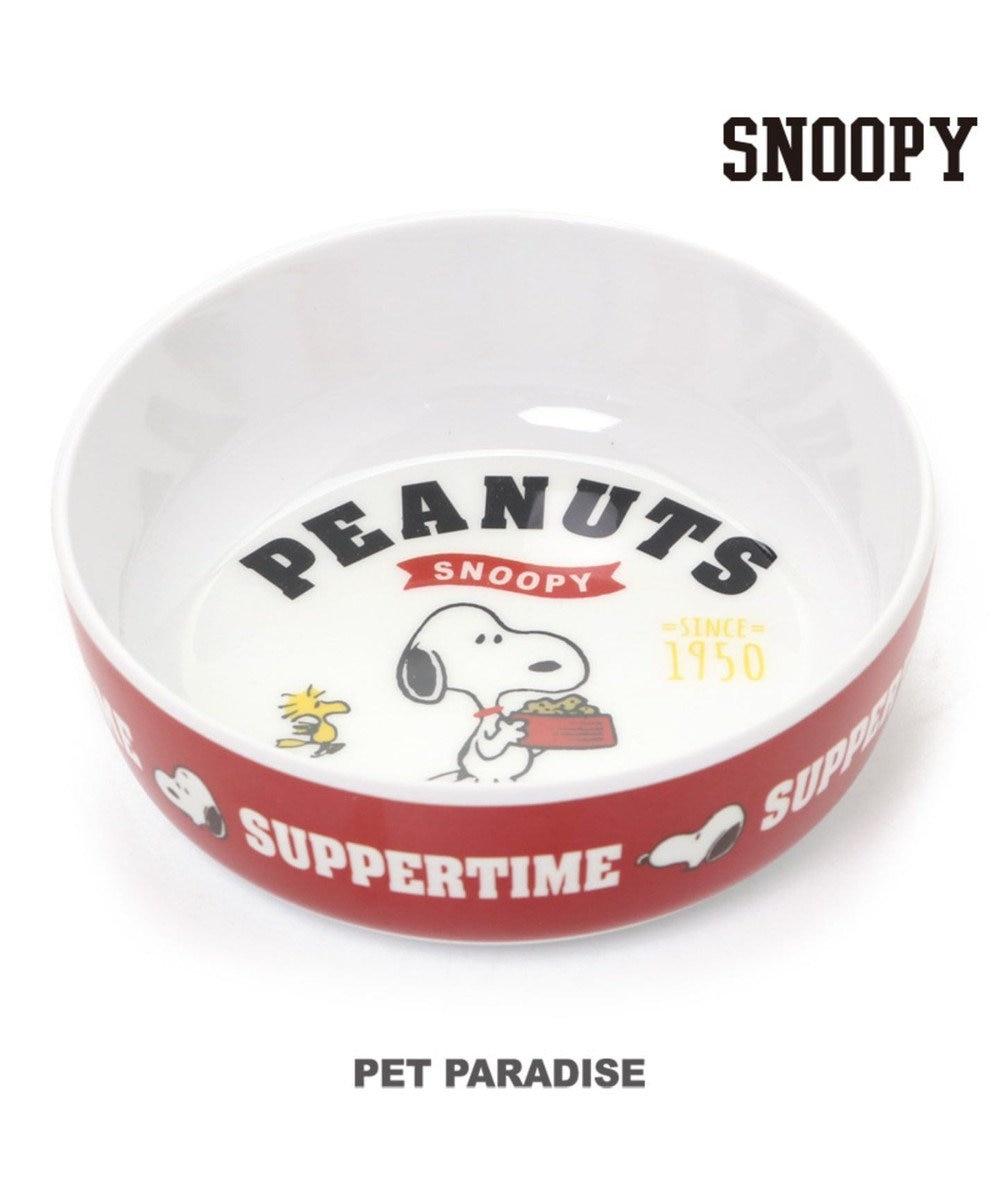 PET PARADISE スヌーピー 犬 フードボウル 犬 フードスタンド メラミン えさ皿 犬 食器 赤
