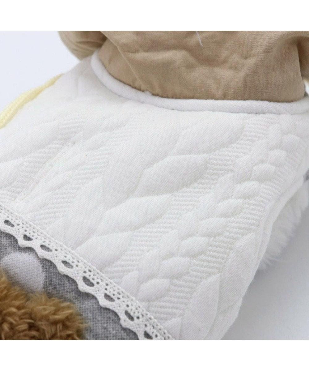 PET PARADISE ペットパラダイス くま 水玉 綿入れ ベスト 〔超小型・小型犬〕 グレー