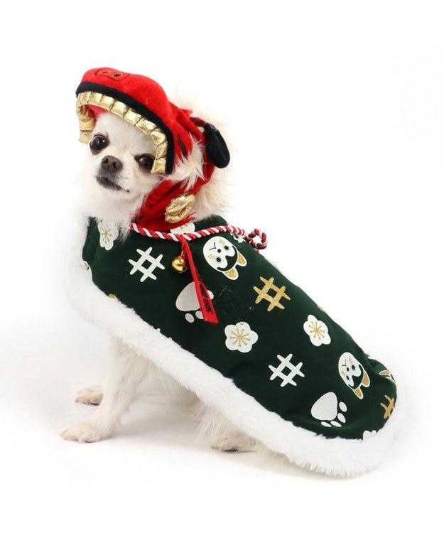 PET PARADISE ペットパラダイス 獅子舞 コート 緑 〔超小型・小型犬〕