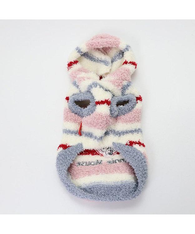 PET PARADISE ディズニーミニーマウス ボーダー パーカー 〔超小型・小型犬〕