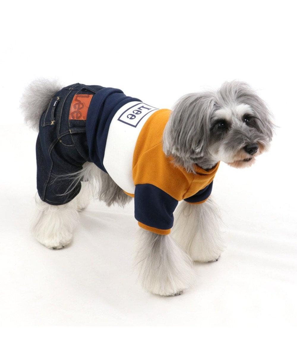 PET PARADISE Lee トリコロール パンツつなぎ 〔超小型・小型犬〕 紺(ネイビー・インディゴ)