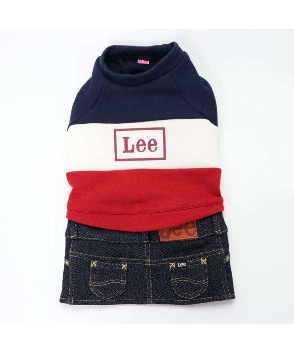PET PARADISE Lee トリコロール スカートつなぎ 〔超小型・小型犬〕 紺(ネイビー・インディゴ)