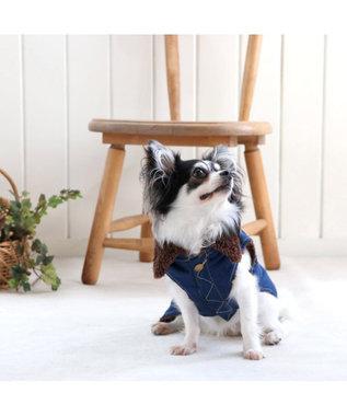 PET PARADISE Lee デニム ライダースベスト 〔超小型・小型犬〕 紺(ネイビー・インディゴ)