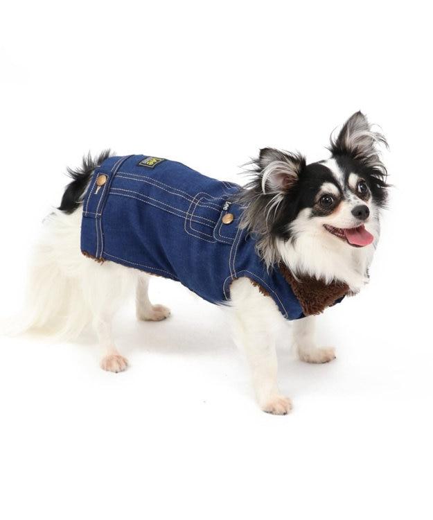 PET PARADISE Lee デニム ライダースベスト 〔超小型・小型犬〕