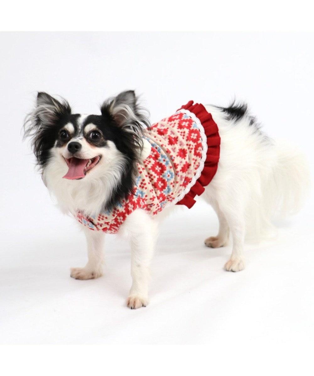 PET PARADISE ペットパラダイス ワンダフルストレッチフリルトレーナー〔小型犬〕 赤