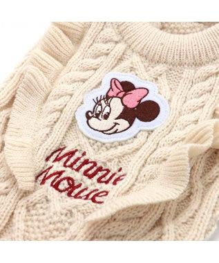 PET PARADISE ディズニー ミニーマウス ドット スカート付きニット 〔小型犬〕 白~オフホワイト