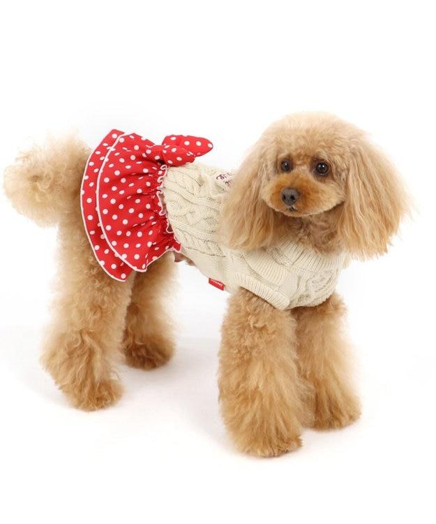 PET PARADISE ディズニー ミニーマウス ドット スカート付きニット 〔小型犬〕