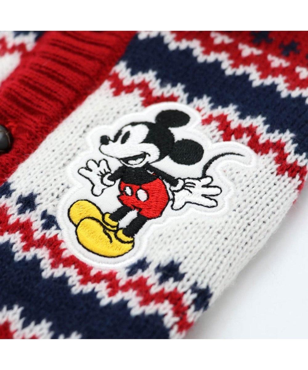 PET PARADISE ディズニー ミッキーマウス カウチン風 ニット〔超小型・小型犬〕 赤