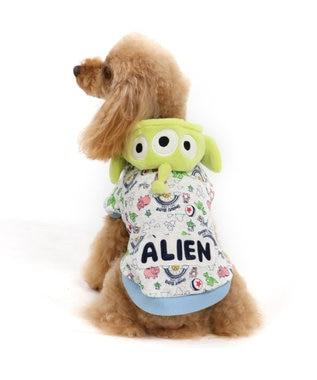 PET PARADISE ディズニー トイ・ストーリー エイリアンモコモコパーカー〔小型犬 黄緑