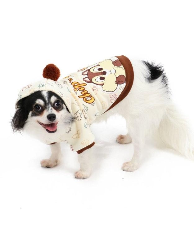 PET PARADISE ディズニー チップとデール もぐもぐ柄 パーカー 〔超・小型犬〕