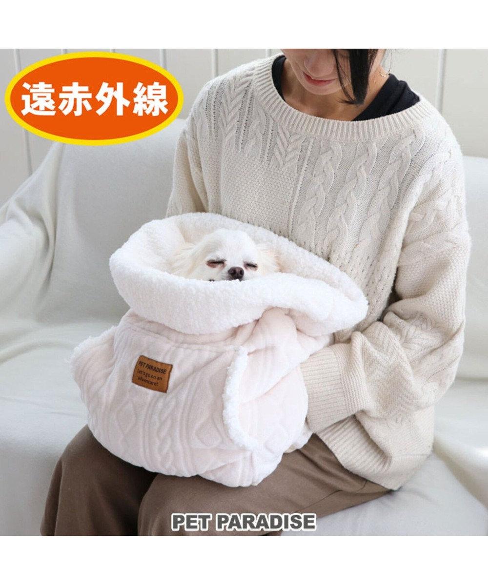 PET PARADISE ペットパラダイス 遠赤外線 編み柄 犬たんぽ白(32×38cm) 白~オフホワイト